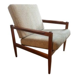 Vintage Danish Mid Century Modern Borge Jensen & Sonner for Bernstorffsmine Mobelfabrik Lounge Chair For Sale