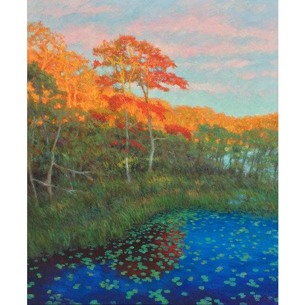 Rob Longley, Autumn, Beech Forest, 2017. Signed by artist. Framed Dimensions: 46.4x36.5