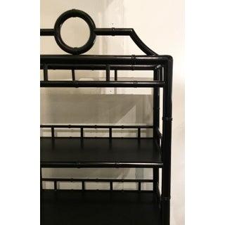 Vangaurd Co. Mid-Century Modern Style Black Bamboo Wood Shelf Preview
