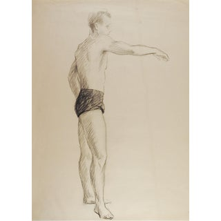 Studio Drawing Male Figure Study For Sale