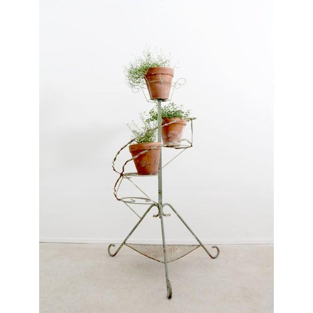 Vintage Metal Plant Stand Riser - Image 10 of 10