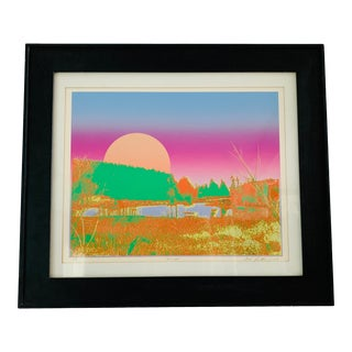 "1970s ""Sunset"" Serigraph by Max Epstein For Sale"