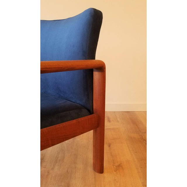 Wood Newly-Upholstered Schou Andersen Møbelfabrik Armchair For Sale - Image 7 of 13
