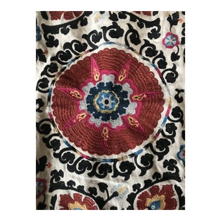 Suzani Fabric - Paprika Lee Jofa Embroidery - 2 Yards For Sale