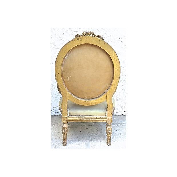 Charles X Antique Aubusson Fauteuil For Sale - Image 5 of 11