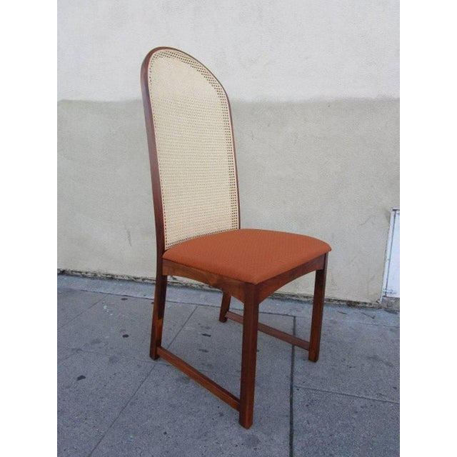 Milo Baughman Caned Back Dining Chairs by Milo Baughman - Set of 6 For Sale - Image 4 of 7