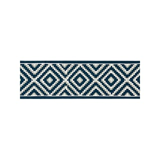 Scalamandre Medina Embroidered Tape, Indigo For Sale