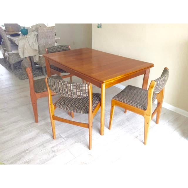 Danish Teak Dining Room Table Set - Image 8 of 9