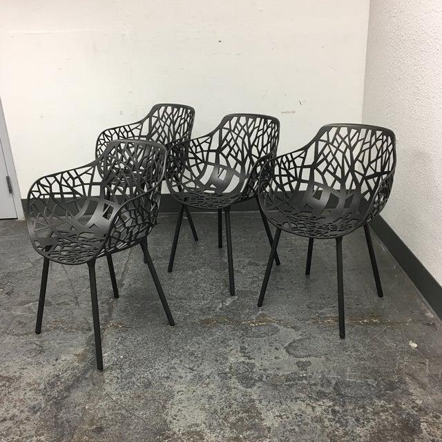 Janus Et Cie Metallic GreyForrest Dining Chair - Set of 4 - Image 4 of 10