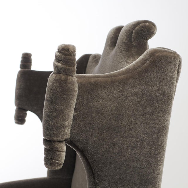 Gray Arturo Pani Wingback Chairs For Sale - Image 8 of 13