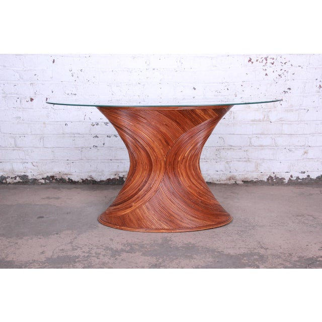 Henry Olko Mid-Century Bamboo Dining Set, Circa 1978 For Sale In South Bend - Image 6 of 13