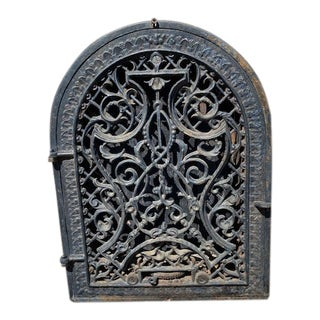 Antique Iron Artifact Indoor/Outdoor Decorative Wall Art For Sale