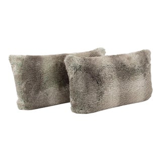 Restoration Hardware Faux Fur Throw Pillow, a Pair For Sale