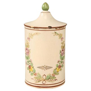 French Hand-Painted Apothecary Jar For Sale