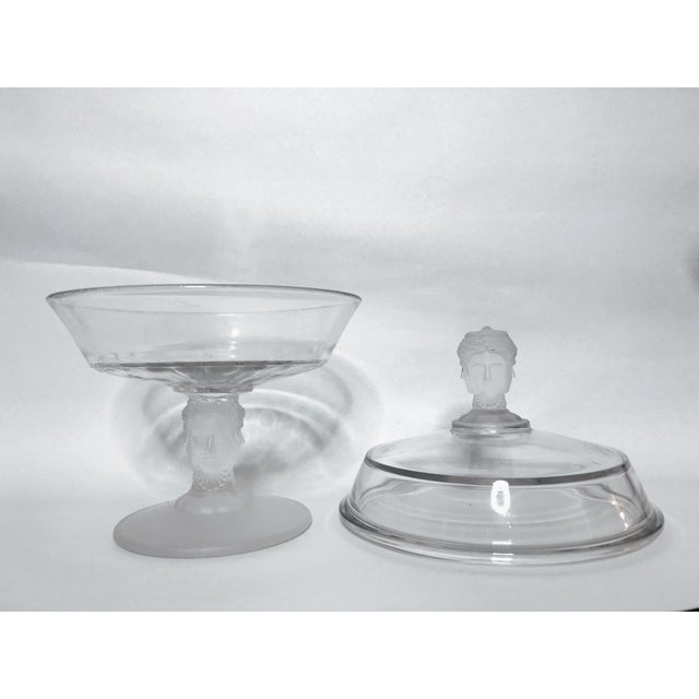 Victorian Vase With Frosted Three Faces Glass Leg and Top For Sale - Image 4 of 6