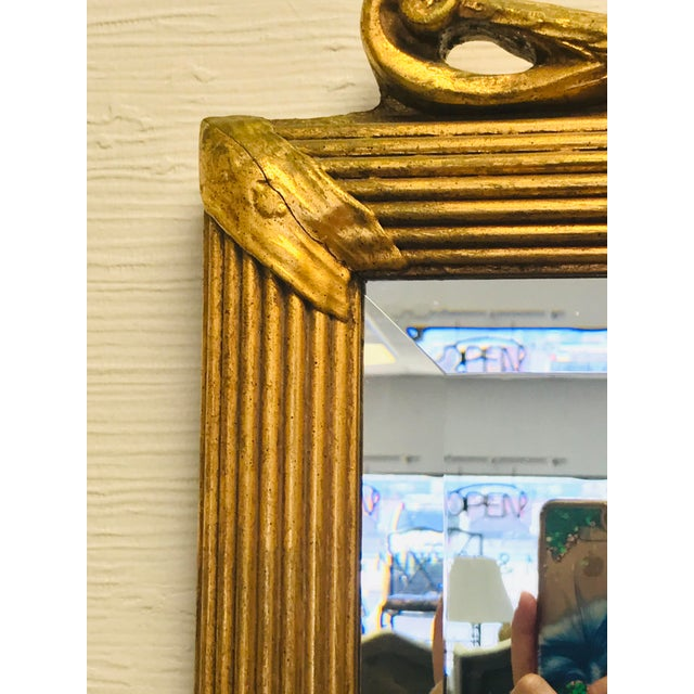 Prince of Wales Gilded Ribbon Wood Carved Mirror For Sale - Image 10 of 10