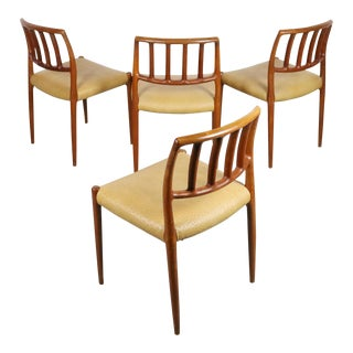 Set of 4 Niels Moller Mid Century Danish Modern Teak Dining Chairs Model No. 83 For Sale