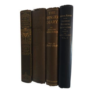 1901-1920 Antique Collection of Books - Set of 4