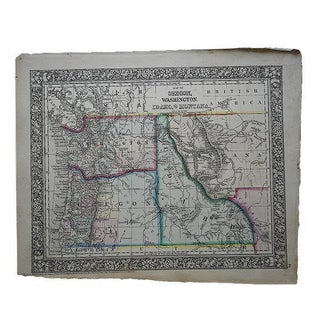 Antique Map of Oregon, Washington, Idaho & Montana For Sale