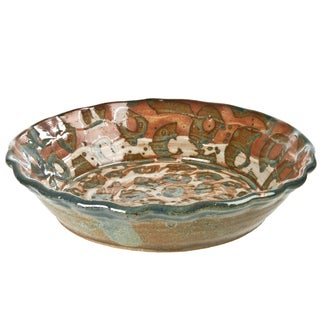 Vintage Handmade Studio Pottery Pie Plate