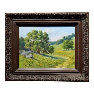 David Chapple California Oak Landscape -Plein Air Oil Painting For Sale