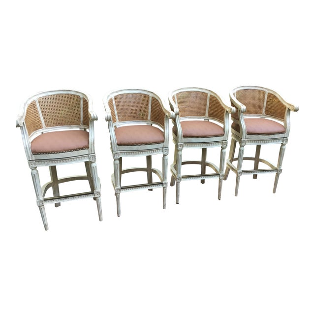 4 Swivel Bar Stools by Pama of High Point, Nc For Sale