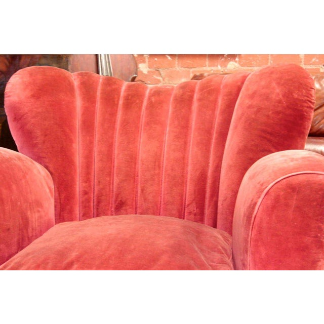 Textile Italian Armchairs attributed to Guglielmo Ulrich For Sale - Image 7 of 9
