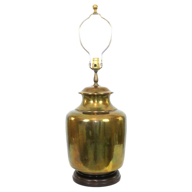Vintage Oversize Asian Brass Lamp by Wildwood - Image 1 of 10