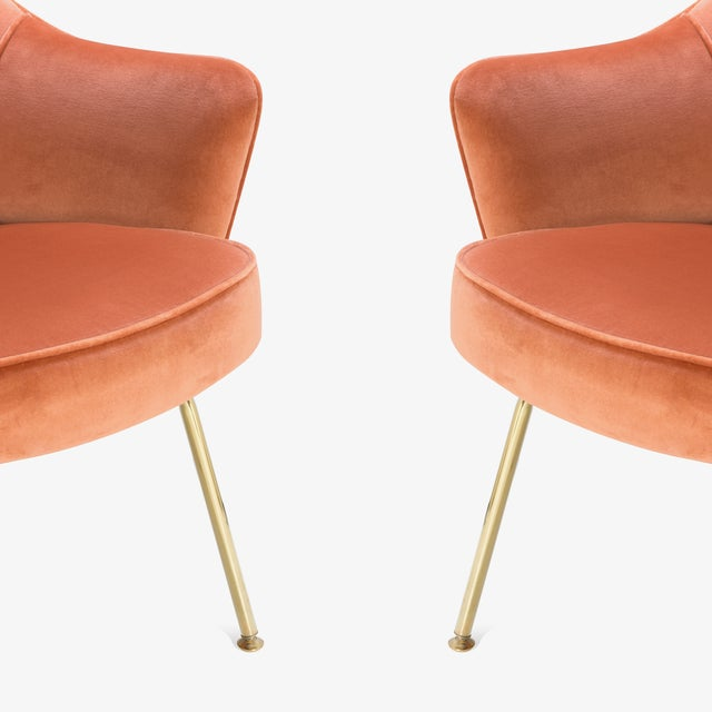 Not Yet Made - Made To Order Saarinen Executive Arm Chairs in Rust Velvet, 24k Gold Edition - Set of 6 For Sale - Image 5 of 8