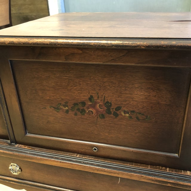 Antique Wood Writing Table + Vanity For Sale - Image 9 of 13