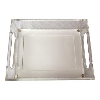 2000s Plexiglass Picture Frame/Tray For Sale