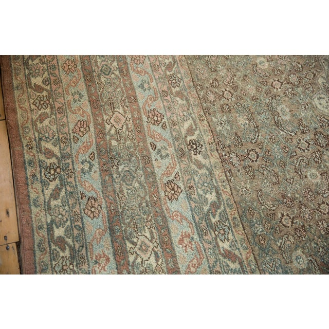 "Vintage Distressed Bibikabad Carpet - 9'5"" X 18'2"" For Sale In New York - Image 6 of 13"