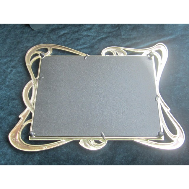 Mirrored Art Nouveau Style Enamel Tray For Sale - Image 4 of 4