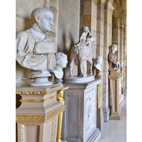 Wood 'Castle Howard' Framed and Matted Print on Rag Paper by Michael Beck For Sale - Image 7 of 8