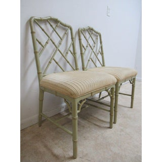 Domain Faux Bamboo Dining Chairs - a Pair Preview