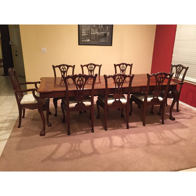 Henredon Rittenhouse Square Mahogany Table With Chairs