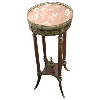 19th Century Antique Napoleon III Gilded Bronzes Gueridon Table or Pedestal Table For Sale