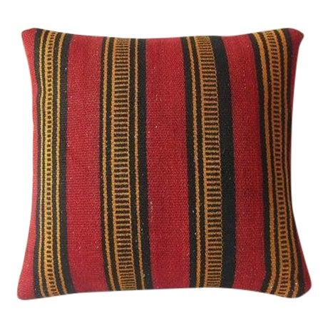 Vintage Turkish Kilim Pillow Cover - Image 1 of 3