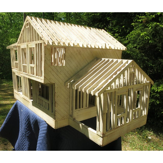1960s Vintage Architectural Model Wood House For Sale - Image 5 of 11