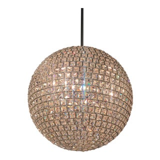 Crystorama Genesis Disco Ball Pendent Light Chandelier For Sale