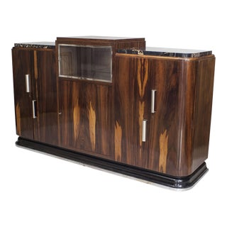 French Art Deco Rosewood Sideboard For Sale