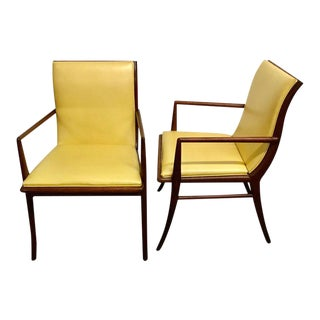 T.H. Robsjohn-Gibbings for Widdicomb, Model No. 4204 Armchairs - a Pair