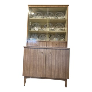 1960s Vintage China Closet For Sale