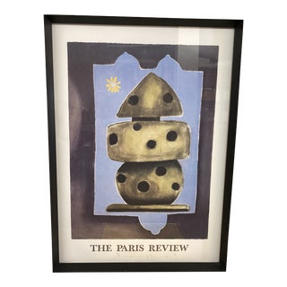 Late 20th Century Custom Framed Vintage Paris Art Poster, Signed For Sale