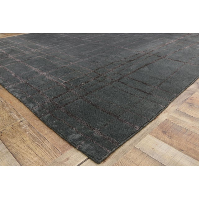 Vintage Tibetan Abstract Expressionism Rug - 7'10 X 10'9 For Sale In Dallas - Image 6 of 10