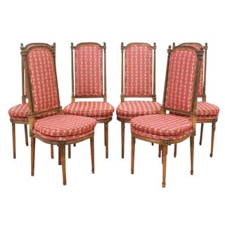 Mid-Century French Provincial Walnut Chairs - Set of 6