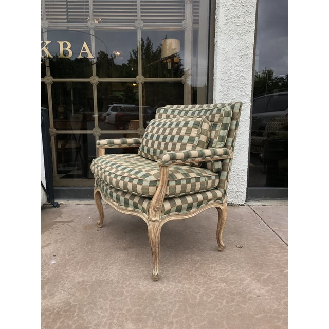 Traditional Vintage Bergere Side Chairs - a Pair For Sale - Image 3 of 8