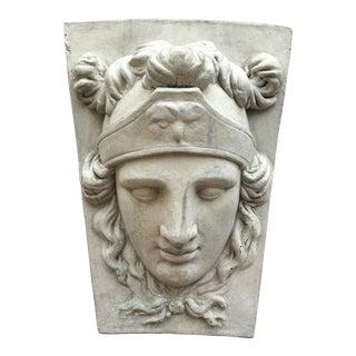 20th Century Neoclassical Concrete Keystone Statue