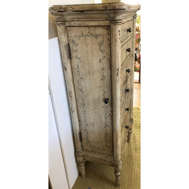 French Painted Lingerie/Jewelry Chest For Sale - Image 3 of 9
