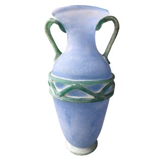 Murano Urn Form Vase With Applied Handles